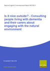 Is it nice outside? - Consulting people living with dementia and their carers about engaging with the natural environment (Thumbnail link to record)
