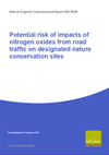 Potential risk of impacts of nitrogen oxides from road traffic on designated nature conservation sites (Thumbnail link to record)