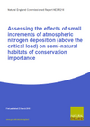Assessing the effects of small increments of atmospheric nitrogen deposition (above the critical load) on semi-natural habitats of conservation importance (Thumbnail link to record)