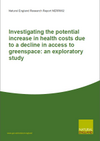 Investigating the potential increase in health costs due to a decline in access to greenspace: an exploratory study (Thumbnail link to record)