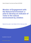 Monitor of Engagement with the Natural Environment:  a pilot to develop an indicator of visits to the natural environment by children (Thumbnail link to record)